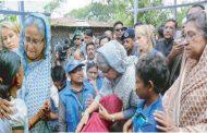 রোহিঙ্গা নির্যাতন বন্ধ ও শরণার্থীদের ফিরিয়ে নিতে মিয়ানমারের প্রতি আহ্বান প্রধানমন্ত্রীর