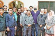নবনিযুক্ত সদস্যদের নিয়ে রাঙ্গামাটি প্রেস ক্লাব নেতৃবৃন্দের সাথে সৌজন্যে সাক্ষাত রাঙ্গামাটি প্রেস ক্লাব সংবাদ জগতে সুবাতাস ছড়াবে---দীপংকর তালুকদার এমপি
