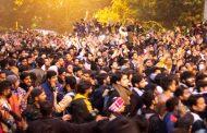 দিল্লিতে সারারাত বিক্ষোভ করেছে বিশ্ববিদ্যালয় শিক্ষার্থীরা